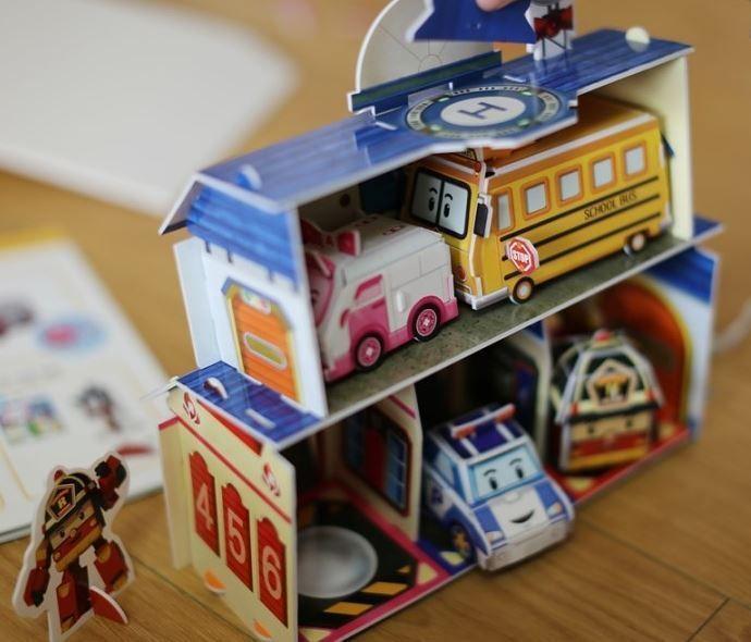 Robocarpoli Rescue 3D Puzzle DIY Book Do It Yourself Kid Transformer Jigsaw Gift #SamsungPublishingCoLtd