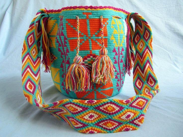 Mochila-Wayuu-Multi-Color Design- Cheerful | Mochilas Wayuu