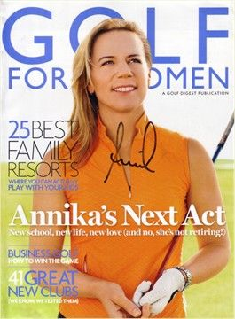 Women's Golf: Annika Sorenstam - great magazine, great golfer!