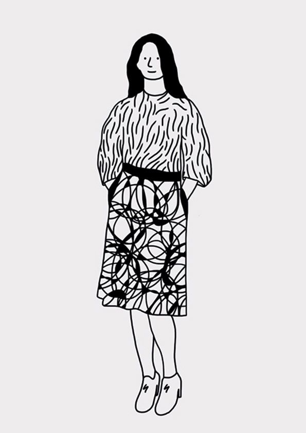 adorable patterns on the clothes of the lonely tourists series by Jan Buchczik #illustration #surfacedesign