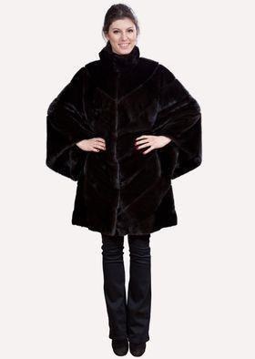 Норковая куртка рукав летучая мышь