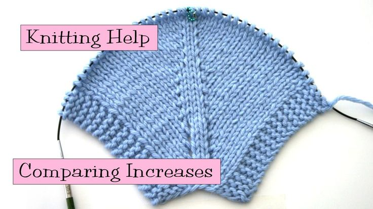 Knitting Increase Purlwise : Knitting help comparing increases in this video i show