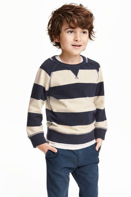 Sweater van katoenen piqué