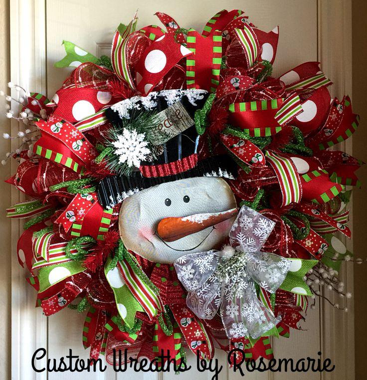 25 Unique Snowman Wreath Ideas On Pinterest Diy