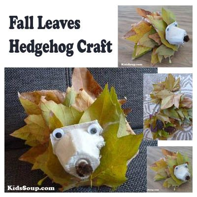 We love hedgehogs and we couln't resist to create a hedgehog craft with some fall leaves. This is a great fine motor skill activity and even small hands will have fun lacing leaves to make the hedgehog.