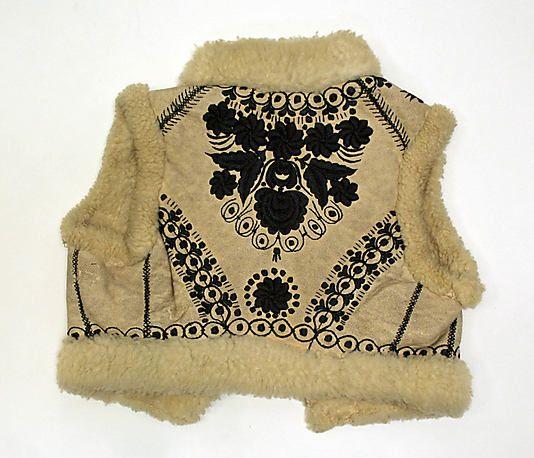 late 19th century Eastern European, sheepskin from the met