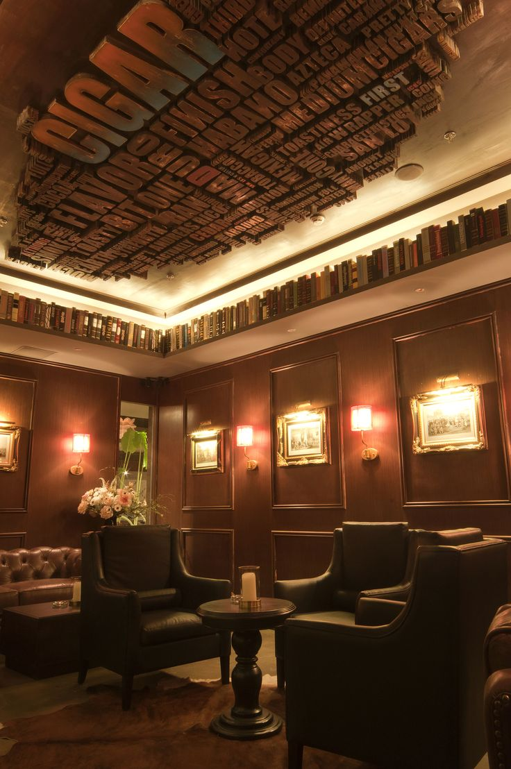 cigar bar lang club interior design pinterest bar. Black Bedroom Furniture Sets. Home Design Ideas