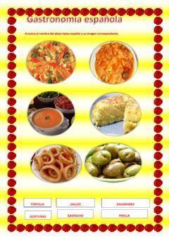 Gastronomía española Language: Spanish Grade/level: elementar School subject: Español como Lengua Extranjera Main content: gastronomía de España Other contents: