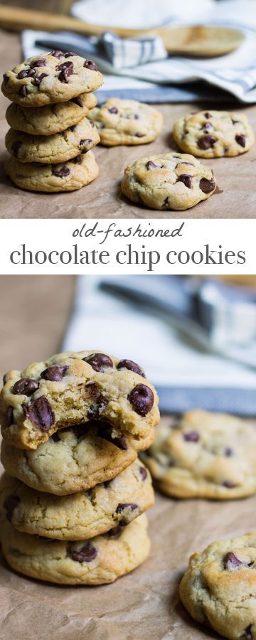 Chocolate Chip Cookies : the old-fashioned way! Recipe via MonPetitFour.com