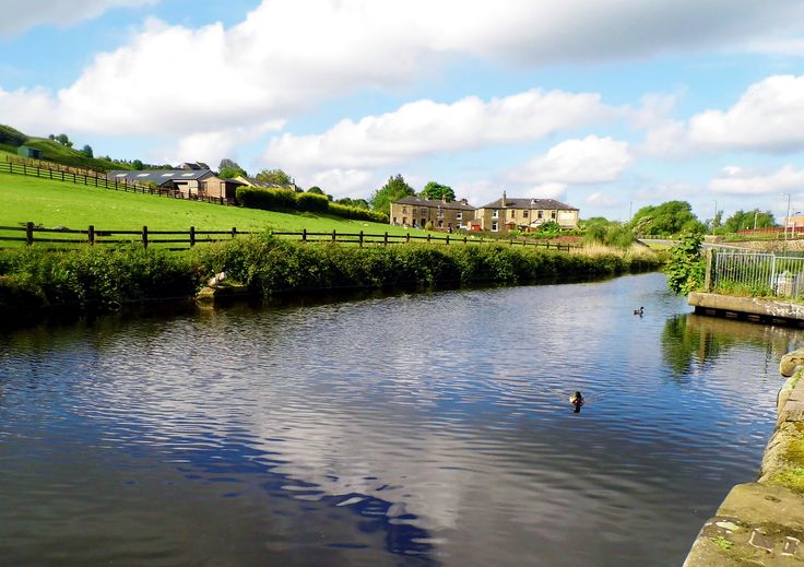 Taken at Littleborough where the Rochdale Canal runs past the towns railway station.