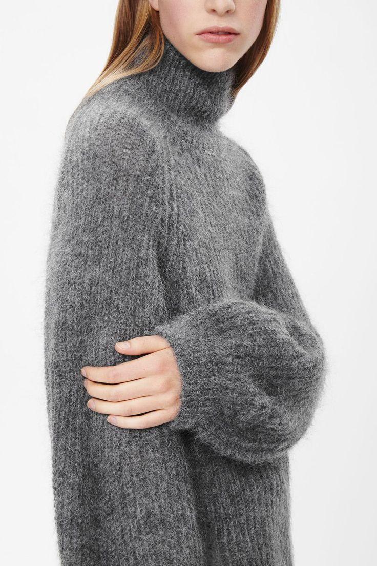 High neck grey sweater