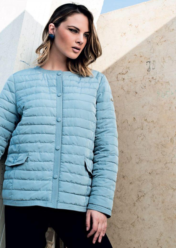 Eider-down Linda's mod.5007 - New Collection 2016. Follow us: www.lindas.it  #jacket #eiderdowns #downjacket #women #curvy #girl #newcollection #spring #summer #fashion #fashionstyle #italianstyle #fashionwoman #jackets #musthave #pinterest #followus