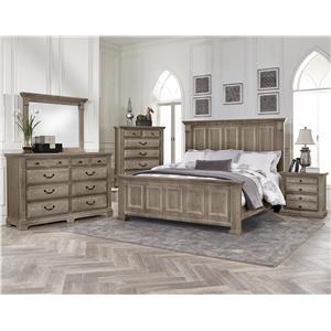 Best Vaughan Bassett Woodlands Queen Bedroom Group King 400 x 300