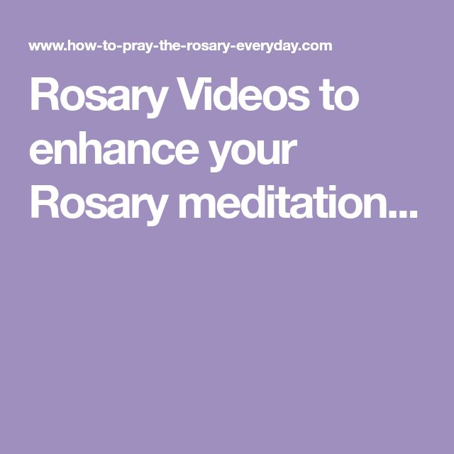 Rosary Videos to enhance your Rosary meditation...