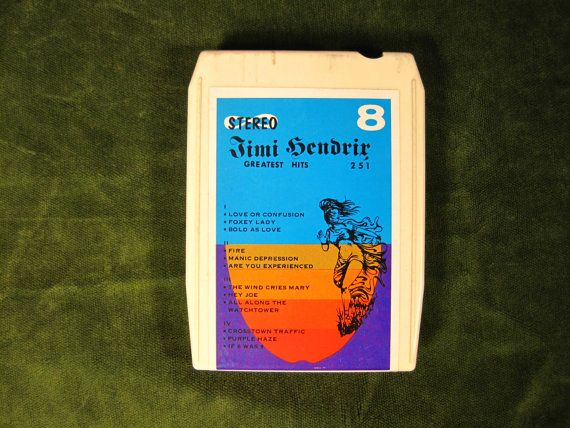 Vintage Jimi Hendrix 8-Track Greatest Hits by VirgoMoonVintage