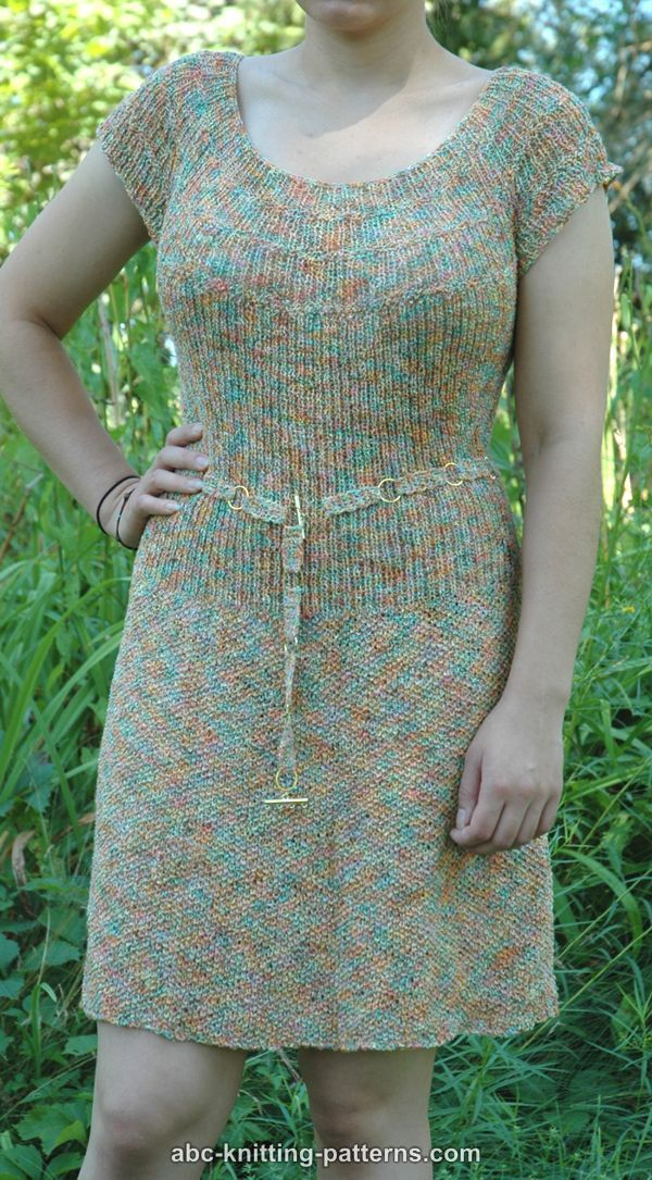ABC Knitting Patterns - Summer Dress with the Round Yoke