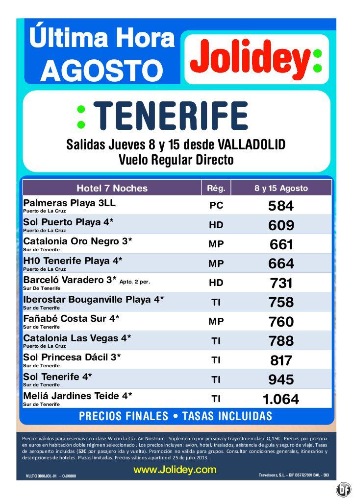 Tenerife Oferta Ultima Hora desde 584€ Tax incl.- 7 Noches Desde VLL 8 y 15 de Agosto - http://zocotours.com/tenerife-oferta-ultima-hora-desde-584e-tax-incl-7-noches-desde-vll-8-y-15-de-agosto/