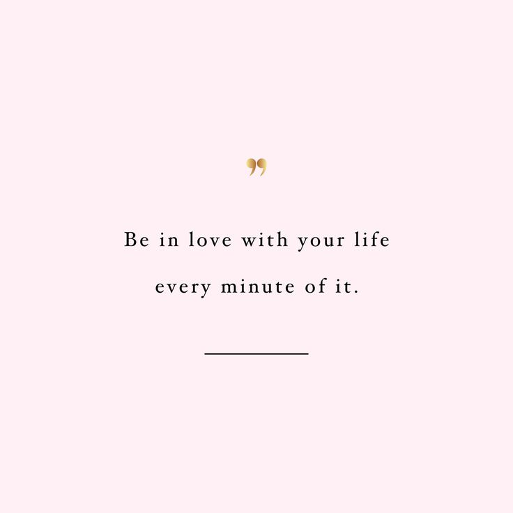 Be in love with your life! Browse our collection of inspirational training and weight loss quotes and get instant wellness and fitness motivation. Transform positive thoughts into positive actions and get fit, healthy and happy! http://www.spotebi.com/workout-motivation/be-in-love-with-your-life/