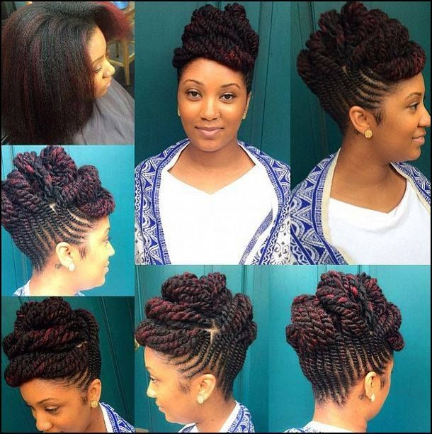 Sculpted Flat Twists Updo