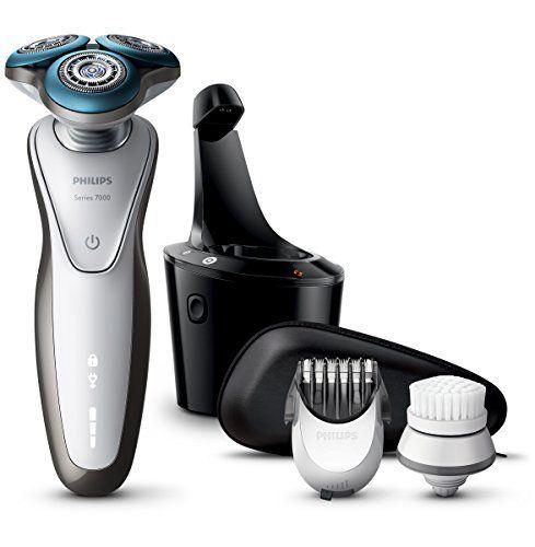 Philips S7780/64 Series 7000 rasoir électrique 100 % étanche avec AquaTec (tondeuse barbe, brosse nettoyante, station SmartClean): 10…