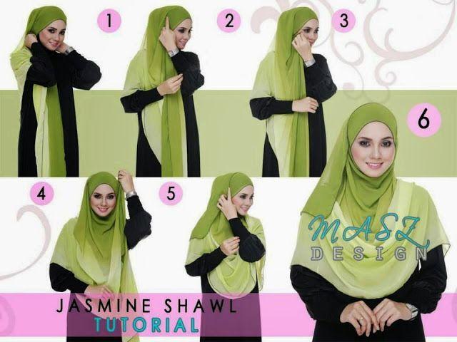 Wide shawl hijab style