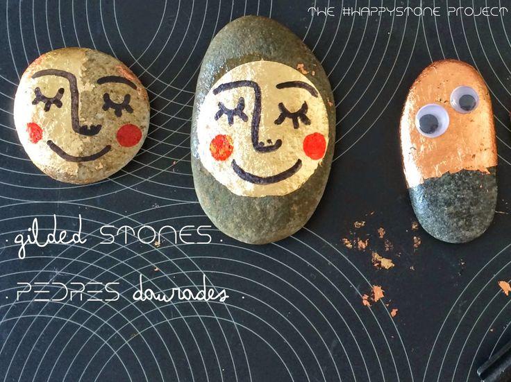 Com crear pedres daurades. · How to create gilded stones. http://happystoneproject.blogspot.com.es/2015/01/pedres-daurades-gilded-stones.html #creixercreant #pedrafeliç #happystone #pintapedrers #stonepainters
