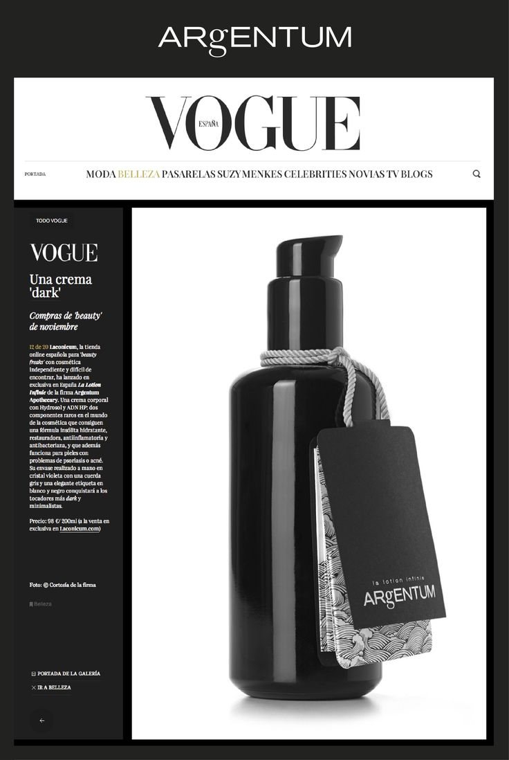 la lotion infinie ~ featured on Vogue España