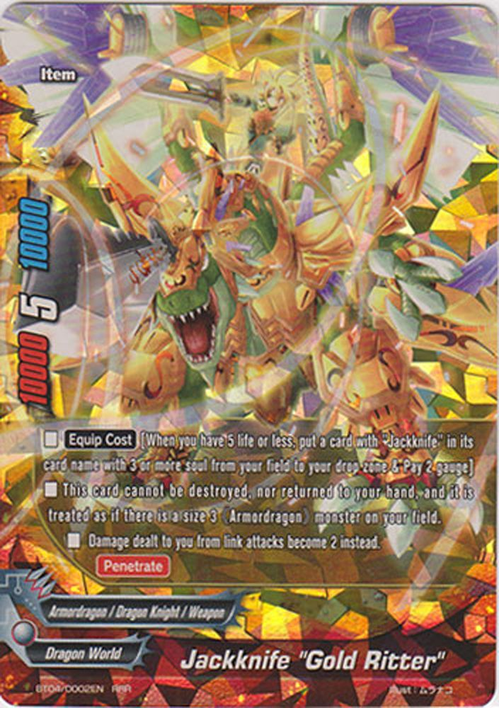 Jackknife Gold Ritter BT04 0002EN RRR BuddyFight