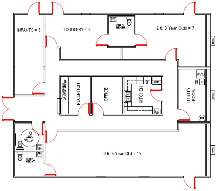 40 best images about preschool blueprints on pinterest for Small daycare floor plans
