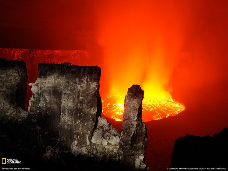 Nyiragongo Lava, Congo Photograph by Carsten Peter, National Geographic