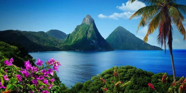 St. Lucia St. Lucia **** This gorgeous island surrounded by the Caribbean Sea and Atlantic Ocean features picture-perfect beaches, beautiful mountain scenery, and lush rainforests.