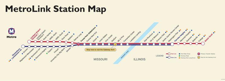 #MetroLink est le système de train léger sur rail qui dessert la région du Grand Saint-Louis dans le Missouri et East Saint-Louis, Illinois. Le système dispose de 2 lignes et de 37 stations et transporte une moyenne de 53 mille personnes chaque jour. #saintlouis