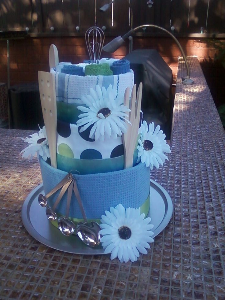 Kitchen Towel Cake