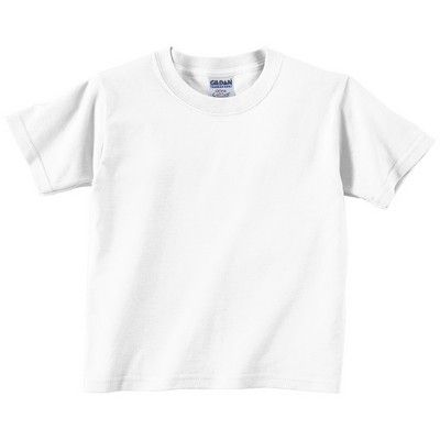 Toddler Cotton T-shirt White Min 25 - A shirt that has a quarter-turned body to eliminate centre crease. http://www.promosxchange.com.au/toddler-cotton-tshirt-white/p-8450.html