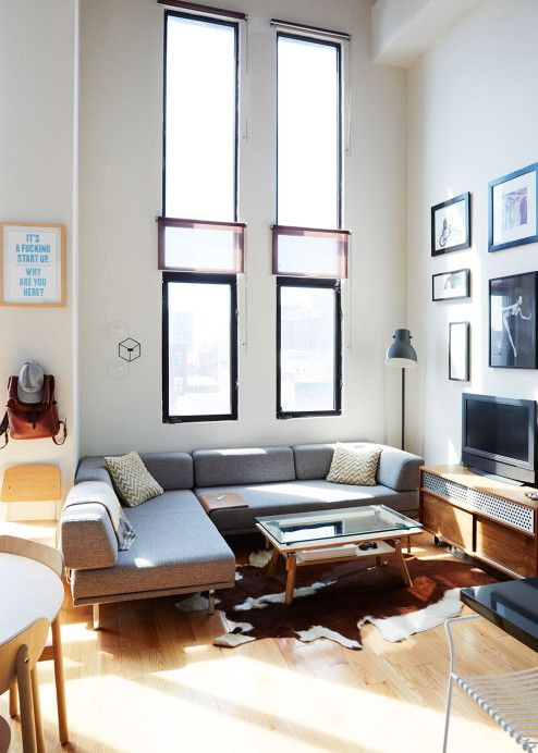Leather Sectional Sofa To say that Evan Clabots got his act together for love wouldn ut be entirely off the mark His impressive three story bachelor pad plete with roof deck