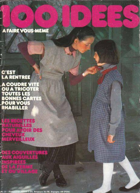 DIY vintage, couture, tricot, loisirs créatifs, années 70: Facile à couper, à coudre, à porter