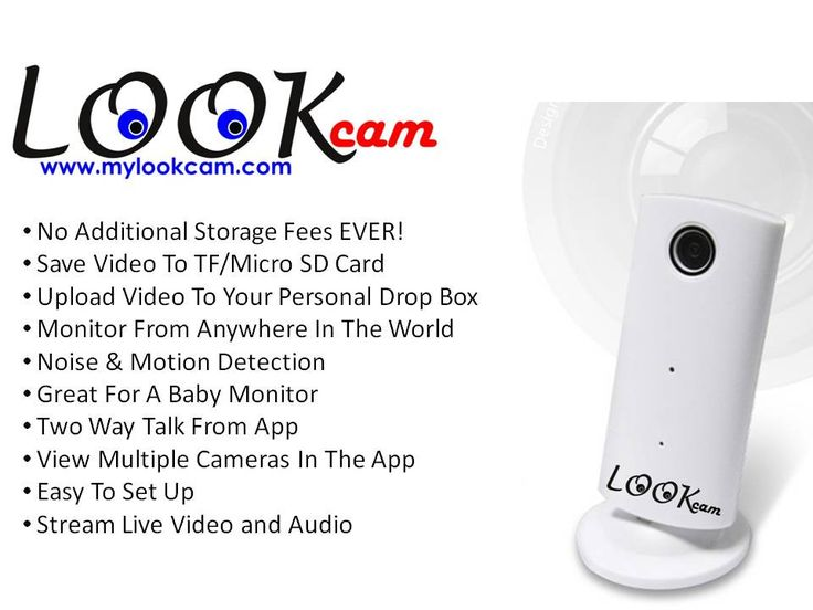LOOKcam WIFI Security Camera: no storage fees, dropbox upload, free app, motion & noise alert, great for baby monitor, home & office Security, and more