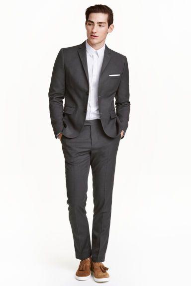 Pantalón de traje Slim fit - Gris oscuro - HOMBRE  b7831808cd1
