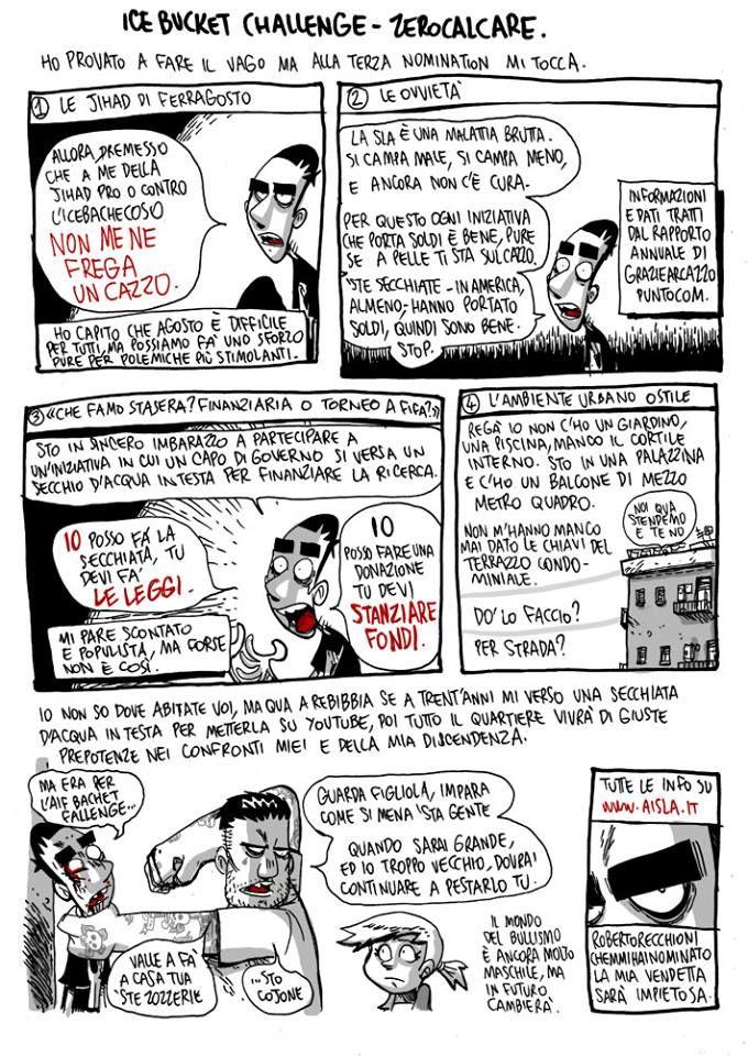 #IceBucketChallenge e #Sla da ZeroCalcare