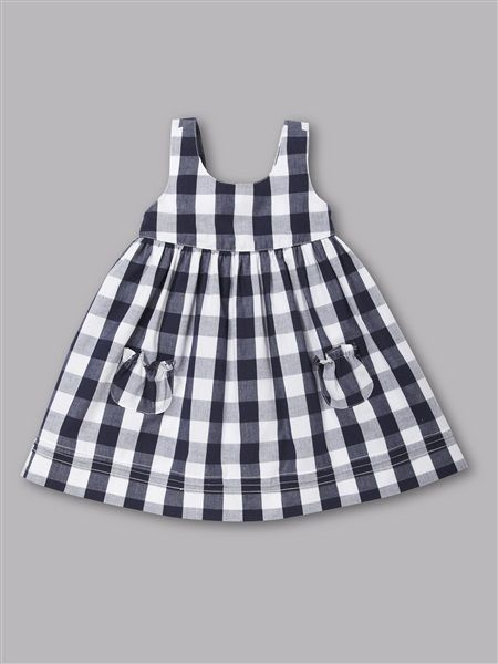 black and white check dress