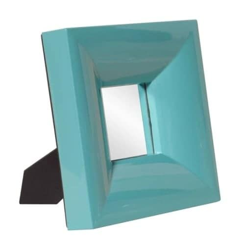 Howard Elliott 78003 Candy 9 Inch x 9 Inch Square Resin Framed Mirror, Orange