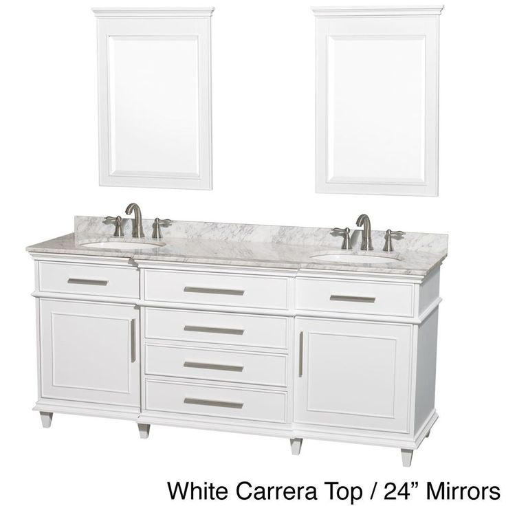 Wyndham Collection Berkeley 72-inch Double Bathroom Vanity