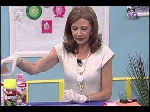 Colorgin no Ateliê na TV - Quadrinho feito com suporte de panela