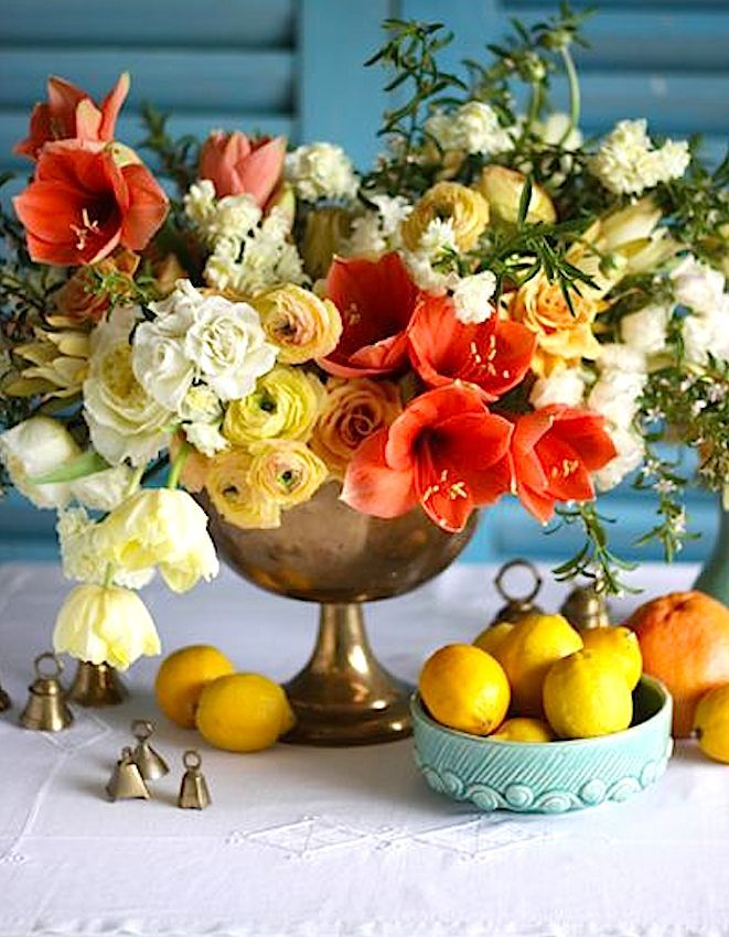 Love The Colors And Variety In This Floral Arrangement. From The Brides Cafe