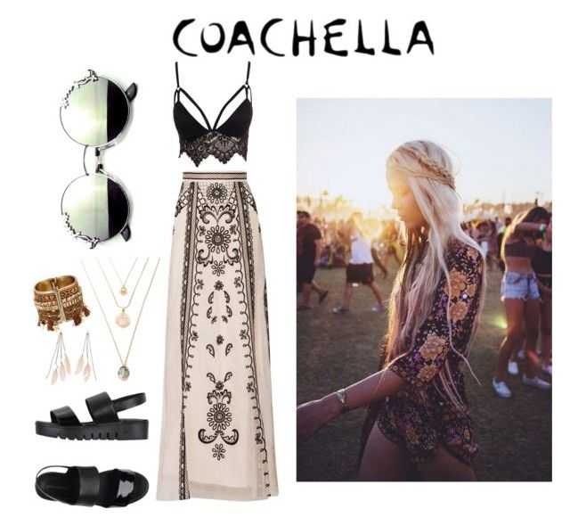"""Coachella"" by craneberries on Polyvore featuring Club L, Temperley London, Jeffrey Campbell and Charlotte Russe"