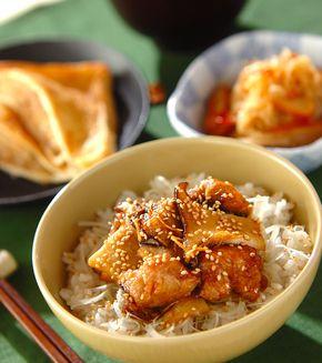 揚げサバの照り焼き丼」の献立・レシピ - 【E・レシピ】料理のプロが ... 揚げサバの照り焼き丼の献立