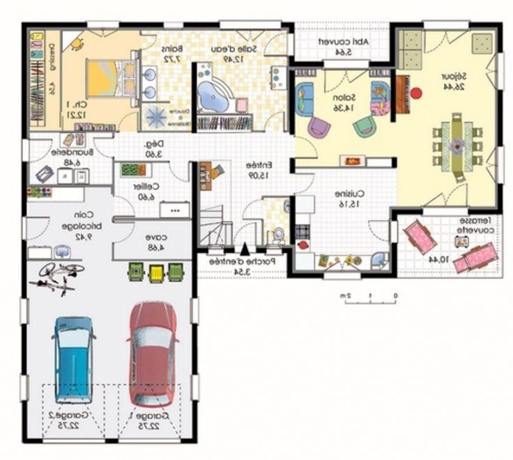 Plan Maison 120m2 4 Chambres Plan De Maison Plein Pied