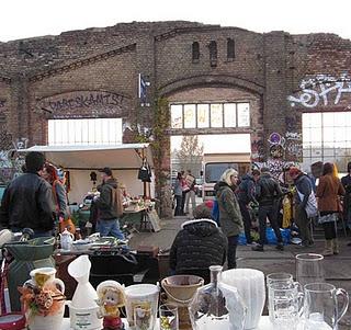 Berlin, friedrichshain fleamarket at RAW temple