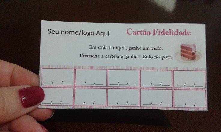 Cartão fidelidade  Em papel 180grs branco  Totalmente Personalizado  Impressão só Frente  9x5cm  Frete = R$12,00 (Carte Registrada com Aviso de Recebimento)