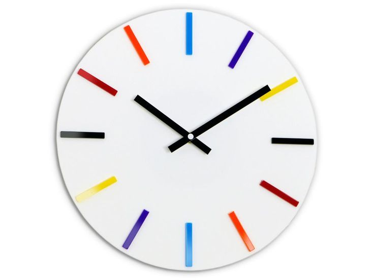 Colourful White Wall Clock